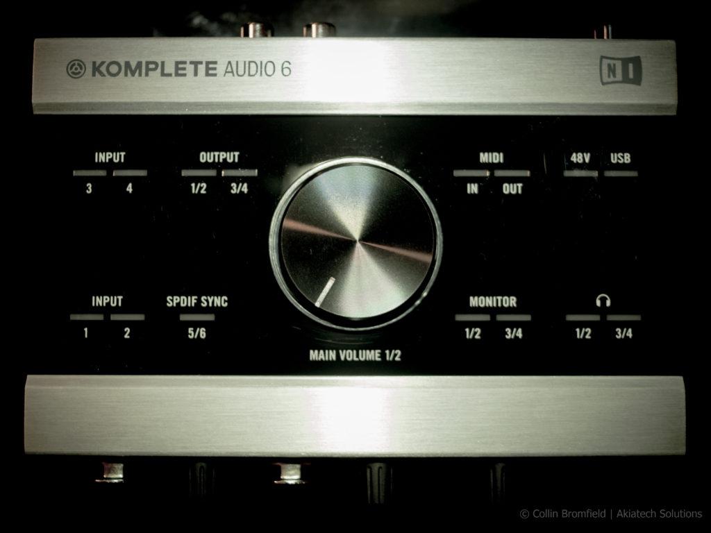 Komplete Audio 6 top down view
