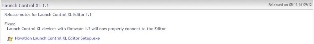 Launch Control XL V1.1 Editor fix